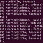 Relacje symetryczne w Prologu